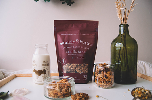 bumble & butter recently brought home the Silver Award for its premium line of granolas in the Cereals & Granola Category