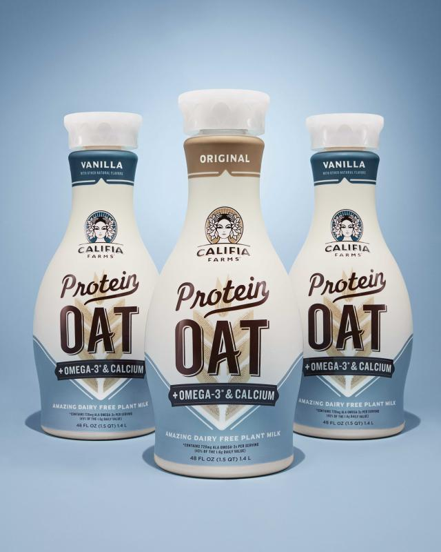 Protein Oat, an enhanced line of nutritious, great-tasting plant milks, is made from pea, oat, and sunflower proteins that deliver a complementary blend of nine essential amino acids