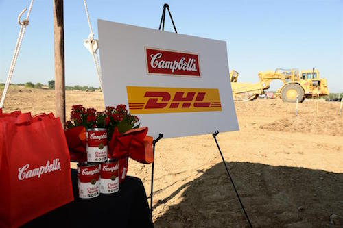 Groundbreaking at the new Ohio distribution facility site