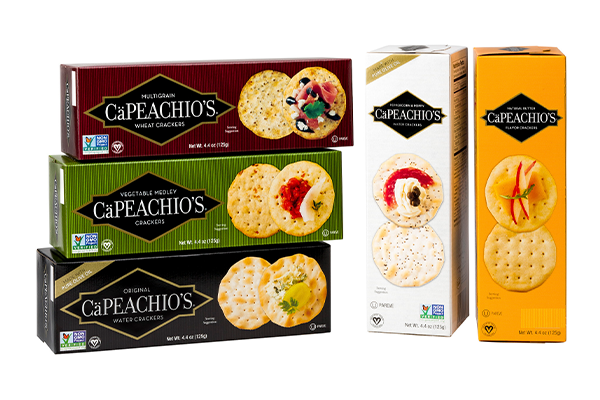 Both Venus Wafer's brands CaPeachio's and Mariner offer a wide selection for the company's clientele