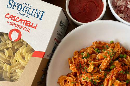 Sfoglini has revealed it will be adding new pasta shapes to retail shelves, including its viral new pasta shape invention called cascatelli