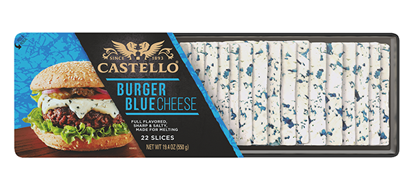Castello is bringing the love for cheese back onto the menu as it launches its CASTELLO® Burger Blue Cheese Slices for foodservice