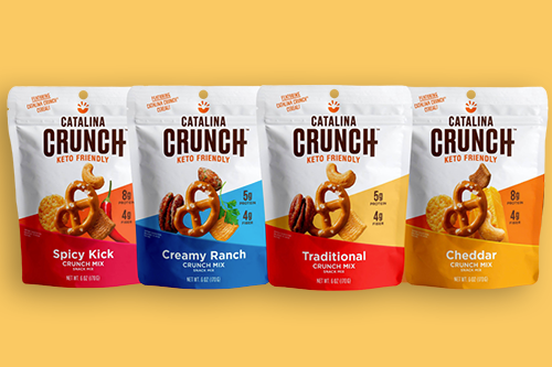 Catalina Crunch®, a keto-friendly snack brand, recently announced its Keto-Friendly Crunch Mixes on top of a rebrand