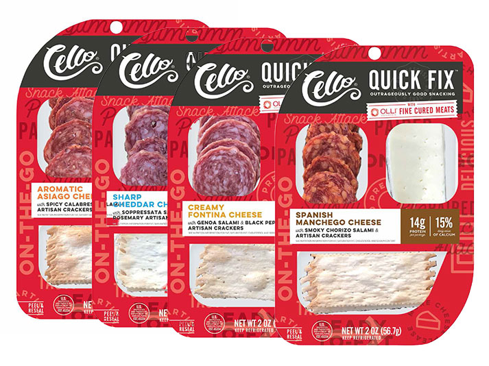 Schuman Cheese's Cello Quick Fix, filled with perfectly portioned combinations of savory, award-winning Schuman Cheeses and Olli Salumeria's artisan slow-cured salami