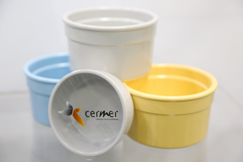 In addition to conveying premium quality, Cermer ceramic products are reusable, biodegradable, and microwave and dishwasher safe
