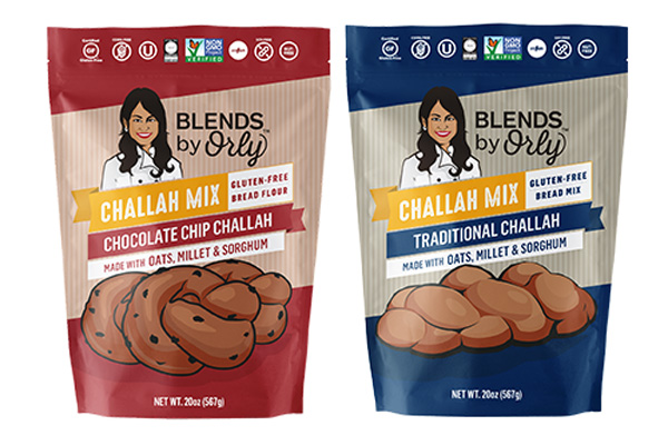 In addition to her four Gluten-Free Blends, Orly also introduced Traditional Challah Mix and Chocolate Chip Challah Mix