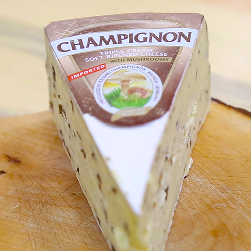 Käserei Champignon's Champignon Mushroom Brie touts high-quality milk from Germany and a mouthwatering taste