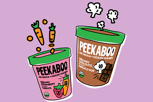 Peekaboo Organic's ice cream featuring hidden vegetables was named the grand prize winner of the Real California Milk Snackcelerator dairy snack innovation competition