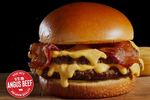 Nathan's Famous recently debuted its new Bacon Cheddar Cheesy Burger available in restaurant and through its ghost kitchen partners