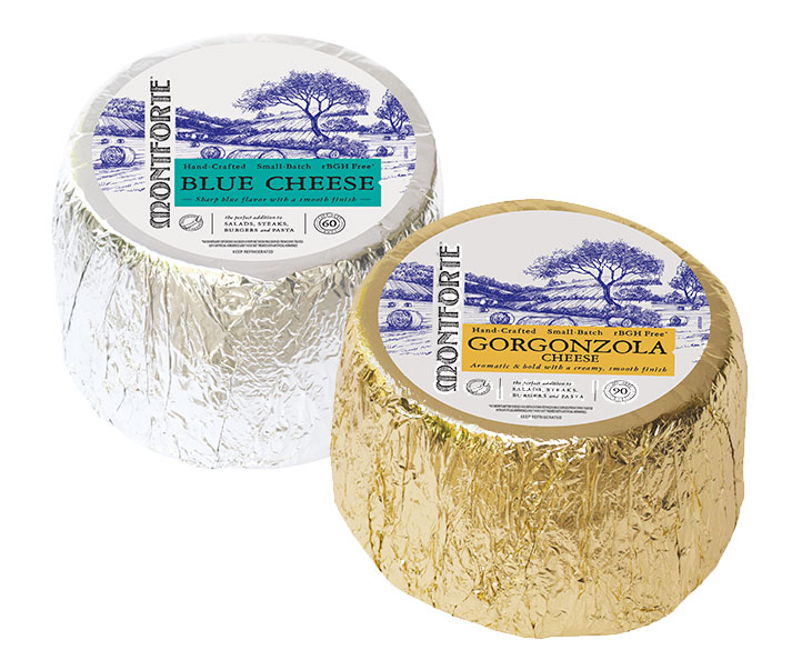 Schuman Cheese's rebranded Montforte line, celebrates the heritage and exceptional care that goes into the line of hand-crafted, small-batch Blue and Gorgonzola cheeses