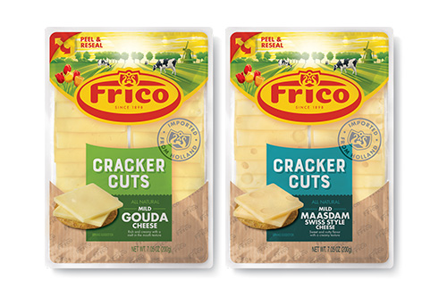 Frico Cracker Cuts is a perfect grab-and-go product, available in an eight-to-a-pack display-ready case