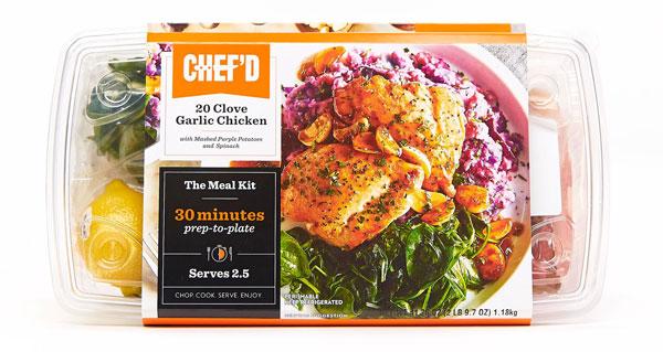 Chef'd 20 Clove Garlic Chicken meal kit