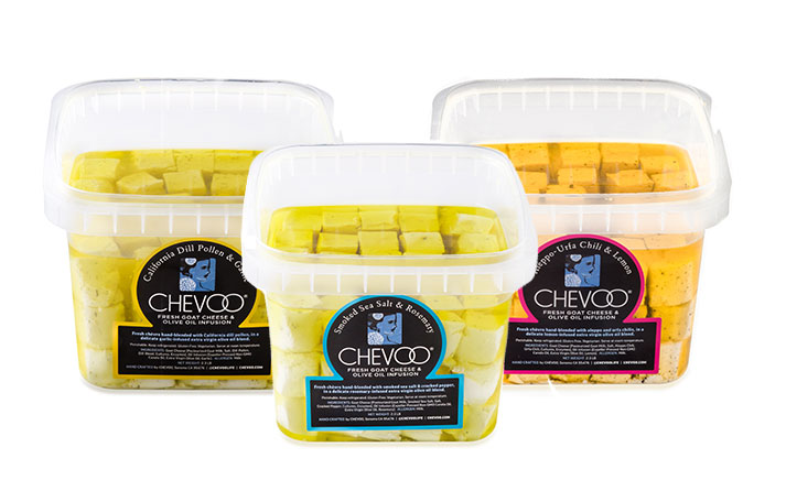 CHEVOO's 2.3 lb foodservice buckets with 75 tubes per bucket, offering chefs high quality in a portion-controlled format