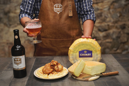 Each cheese comes with a recommended bottle to pair for the best flavor combination