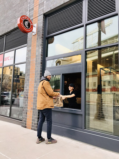 Chipotle's new walk-up windows and premium placement for digital built-in pick-up portals allow customers to receive their food more efficiently than ever before