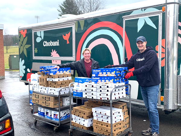 Chobani will send a truck-a-day for the foreseeable future to food banks who desperately need supplies across the U.S.