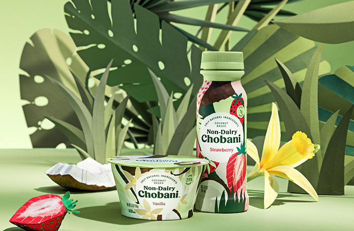 Chobani advocates a clear distinction between milk-based foods, like yogurt, and other non-dairy options, like Non-Dairy Chobani, cultured with organic coconut purees