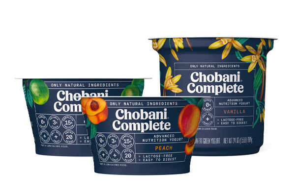 Chobani® Probiotic, refreshing and fruity plant-based beverages, and Chobani® Complete, lactose-free Greek Yogurt food and drinks, have the perfect combination of flavor, function, and packed with probiotics and other key nutrients for busy, on-the-go, modern families