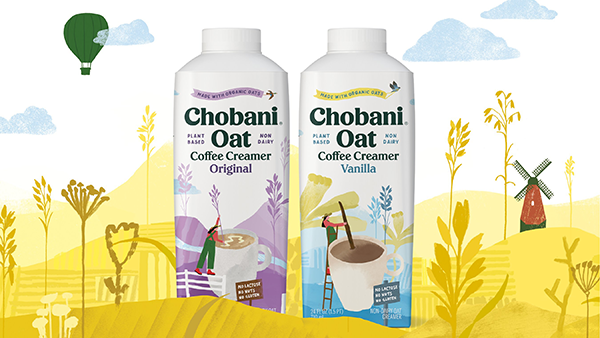 Chobani has also launched new items for the company's batch-made oat-based platform, including the vegan-friendly Chobani® Oat Zero Sugar with zero grams of sugar and two new Chobani® Oat Coffee Creamers