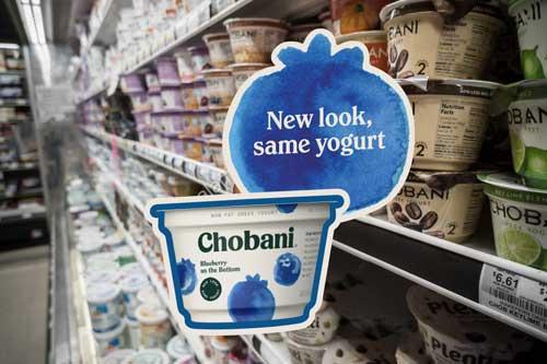 Chobani signage