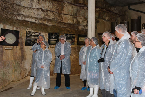 Retailers touring the Comte caves and caverns at Fort Des Rousse during the 2016 SIAL trip