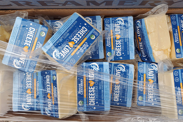 Since Rogue Creamery launched the campaign, the cheesemaker has donated 1,000 pounds of cheese to ACCESS, a local non-profit