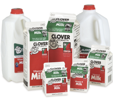 Clover's Whole Milk line, which will start converting to non-GMO along with the company's other conventional products