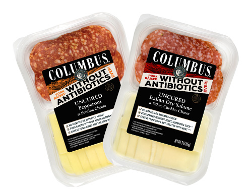The salami flavors are paired with rBST-free cheeses to create a deliciously paired snack