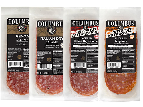 Columbus now makes smaller pouches of their classic salami and antibiotic-free salami, which is perfect for a snack on the go