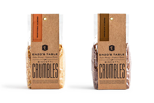 Growing its bakery portfolio, ENZO's TABLE recently launched its new Biscotti Crumbles