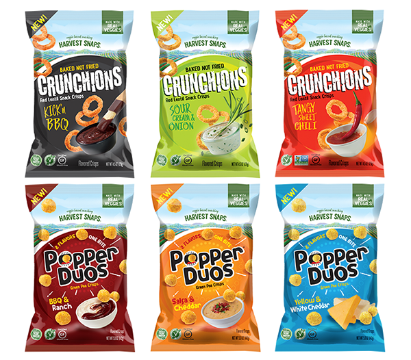 Harvest Snaps' latest product, Crunchions™, will go live at Expo West, alongside the relaunch of the popular line, Popper Duos
