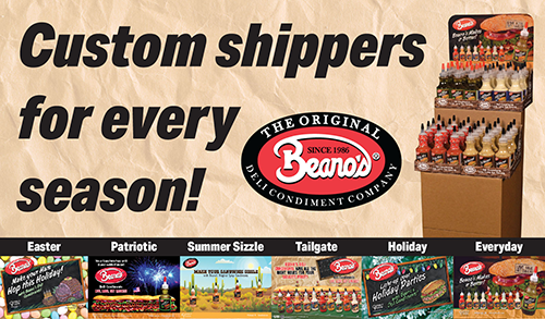 Conroy Foods is aiming to help retailers capture those seasonal sales with its customizable and solution-based Beano's Deli Condiment Shipper Program