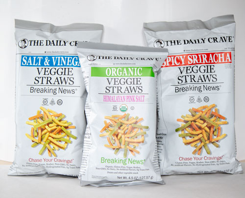 "The Daily Crave's chip bags feature news headlines, like ""Uninvited Guests Loot Ancient Treasures,"" and tidbits from breaking stories"