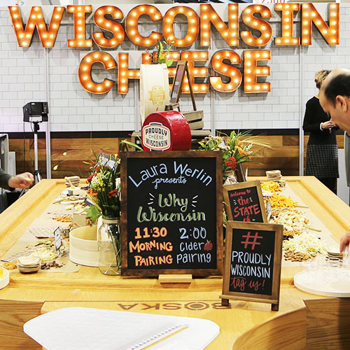 Dairy Farmers of Winsconsin showed off its World's Largest Cheeseboard at Winter Fancy Food Show 2019