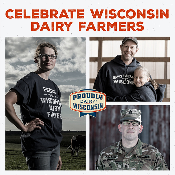 In honor of National Dairy Month, Dairy Farmers of Wisconsin is encouraging consumers to stand united with the state's dairy farmers and find simple ways to show their support