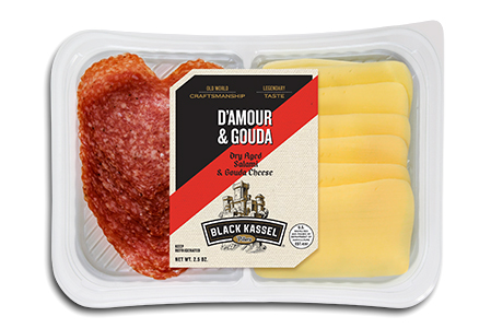 Black Kassel D'Amour Salami and Gouda