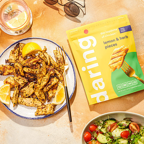 Non-GMO and delicious, daring's Cajun plant-based chicken pieces and Lemon & Herb pieces will be available at Sprouts Farmers Market and online alongside the original flavor