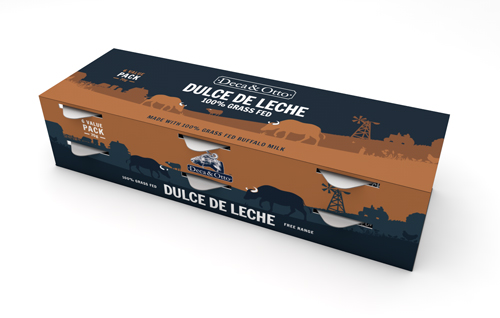 Deca & Otto is introducing new 70g Dulce de Leche snack packs made with 100% grass fed buffalo milk