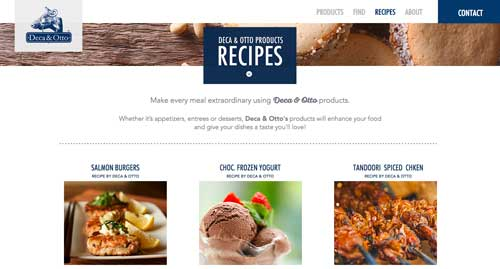 Deca Otto Recipes Page
