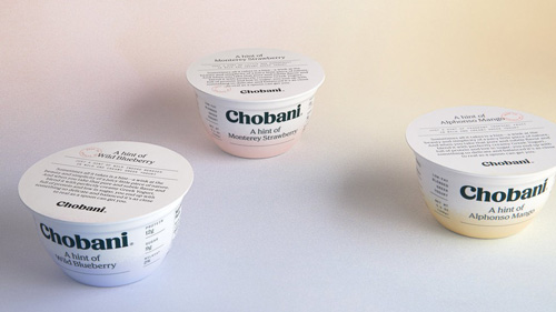 "The Chobani ""Hint Of"" line is made with natural ingredients and includes concentrated fruit"
