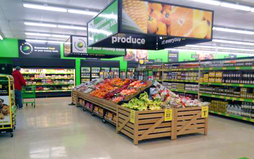 A Dollar General Produce Department