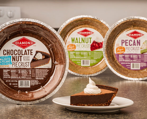Diamond of California® is aiming to turn the humble walnut and pecan into sheer decadence with its latest launch, Chocolate Nut Pie Crust