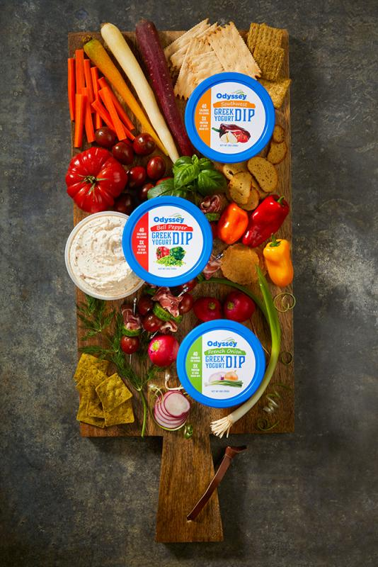Odyssey® Greek Yogurt Dips are a healthy alternative to similar products