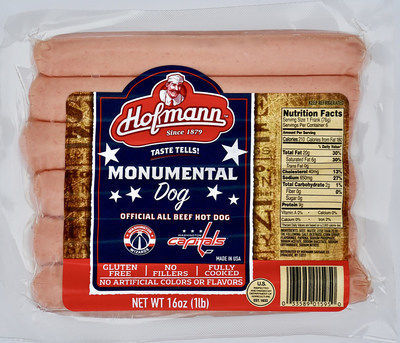 Hofmann Sausage Company is rolling out its new Monumental Dog at the Capital One Arena in Washington, DC, and in 140 Giant Food Stores on the East Coast