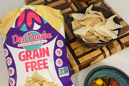 Don Pancho is expanding its unique lineup to include its newest SKUs: Grain Free Tortillas and Grain Free Chips(Photo credit: Business Wire)