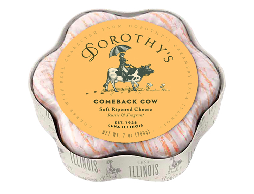 Comeback Cow is is made from cow's milk with rustic, fragrant notes and is tinged orange with age