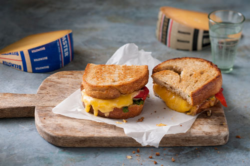April is National Grilled Cheese Month celebrate with this Double Beemster Panini from Beemster Cheese