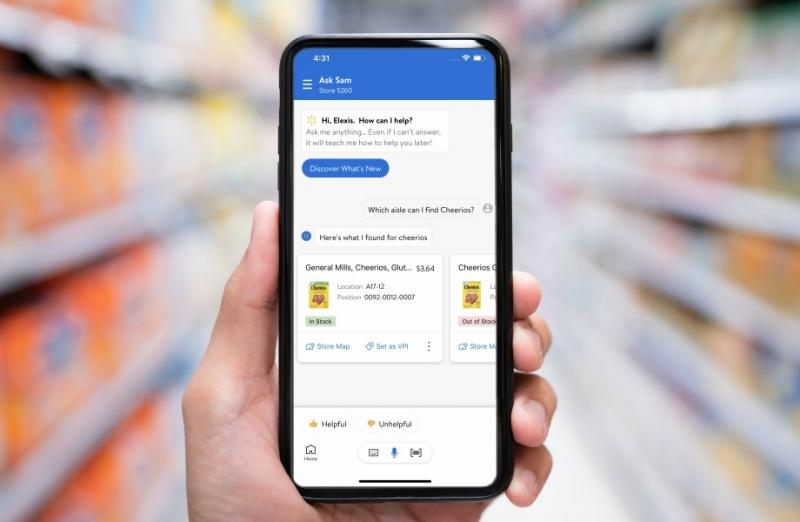 Developed in 2019 and rolled out across Walmart's Sam's Club banner, Ask Sam is now being made available to 5,000 Walmart stores nationwide