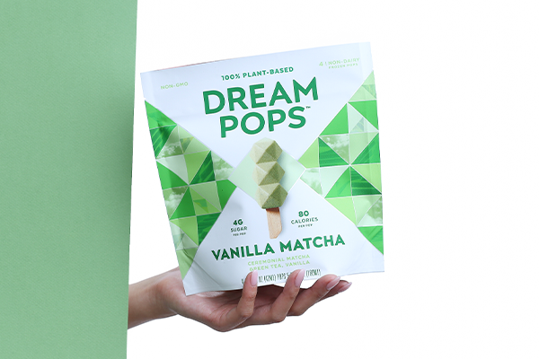 Dream Pops come in five flavors: Berry Dreams, Chocolate Lion, Coconut Latte, Mango Rosemary, and Vanilla Matcha