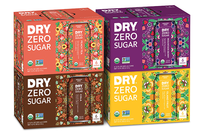 DRY Zero Sugar six packs